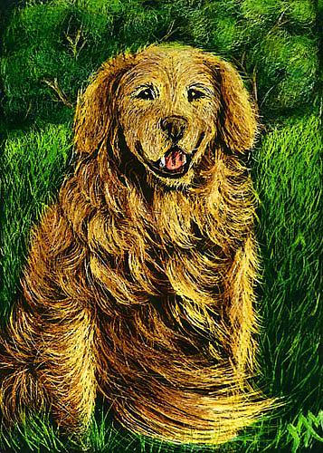 Art: Golden Retriever  (SOLD) by Artist Monique Morin Matson