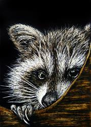 Art: Bashful  (SOLD) by Artist Monique Morin Matson