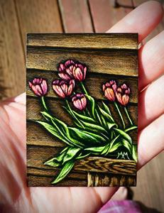 Detail Image for art Spring Tulips - SA103  (SOLD)