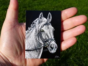 Detail Image for art The Grey Eventer - SA112  (SOLD)