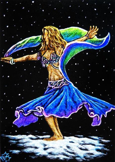 Art: Snow Dancer by Artist Monique Morin Matson