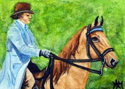 Art: Saddlebred & Rider  (SOLD) by Artist Monique Morin Matson