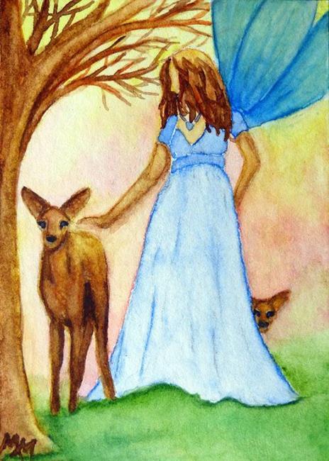 Art: Nature Fairy by Artist Monique Morin Matson
