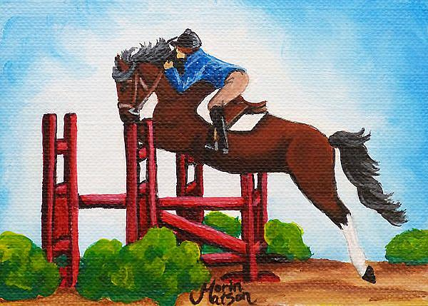 Art: Show Jumper  (SOLD ) by Artist Monique Morin Matson
