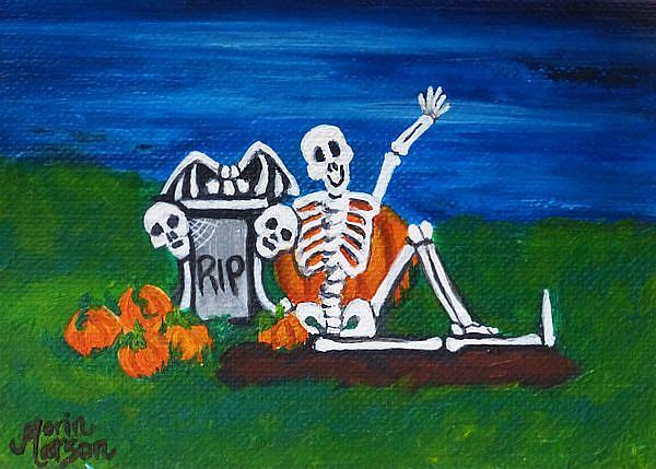 Art: Graveside Hi  (SOLD) by Artist Monique Morin Matson