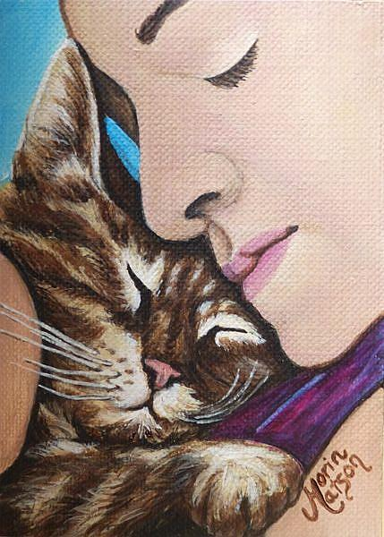 Art: Pure Love  (SOLD) by Artist Monique Morin Matson
