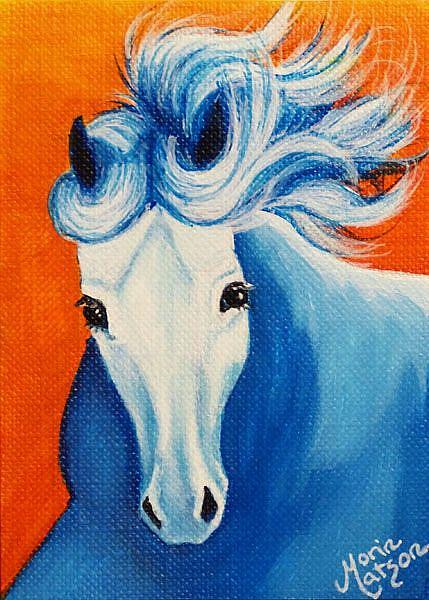 Art: Ice Horse  (SOLD) by Artist Monique Morin Matson