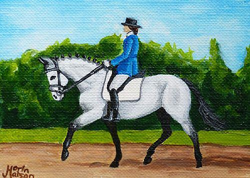 Art: Dressage Gray  (SOLD) by Artist Monique Morin Matson