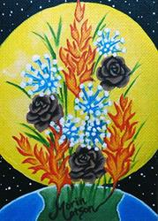 Art: Bouquet of Elements (SOLD) by Artist Monique Morin Matson