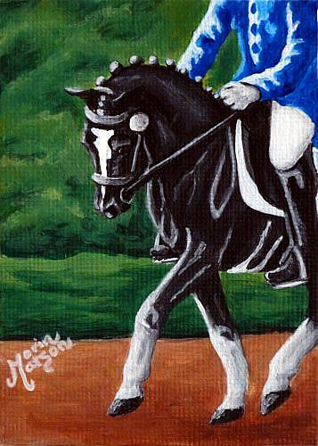 Art: Dressage Black (SOLD) by Artist Monique Morin Matson