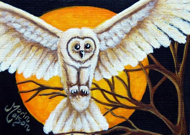 Art: Owl (SOLD) by Artist Monique Morin Matson