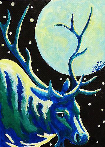 Art: Wapati (SOLD) by Artist Monique Morin Matson