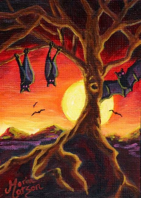 Art: Bat World (SOLD) by Artist Monique Morin Matson