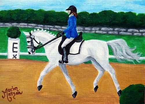 Art: Gray Dressage Arabian (SOLD) by Artist Monique Morin Matson