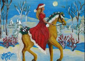 Detail Image for art Christmas by Moonlight (SOLD)