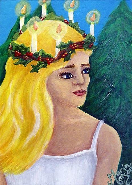 Art: St. Lucy (SOLD) by Artist Monique Morin Matson