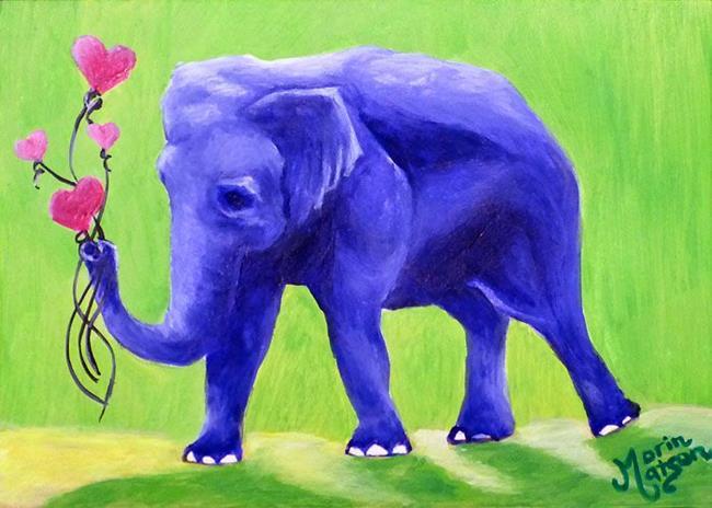 Art: An Elephant Never Forgets (SOLD) by Artist Monique Morin Matson