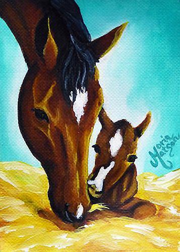 Art: Newborn  (SOLD) by Artist Monique Morin Matson