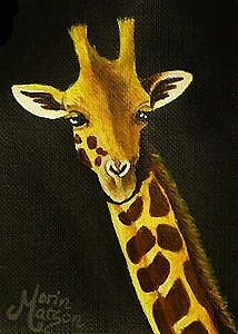 Art: Giraffe  (SOLD) by Artist Monique Morin Matson