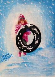 Art: Snow Girl  (SOLD) by Artist Monique Morin Matson