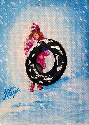 Art: Snow Girl  (SOLD) by Artist Monique Morin Matson