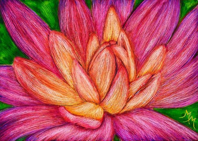 Art: Lotus  (SOLD) by Artist Monique Morin Matson