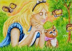 Art: Dreaming of Wonderland  (SOLD) by Artist Monique Morin Matson