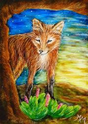 Art: Fox  (SOLD) by Artist Monique Morin Matson