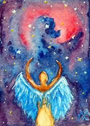 Art: Celestial Angel  (SOLD) by Artist Monique Morin Matson
