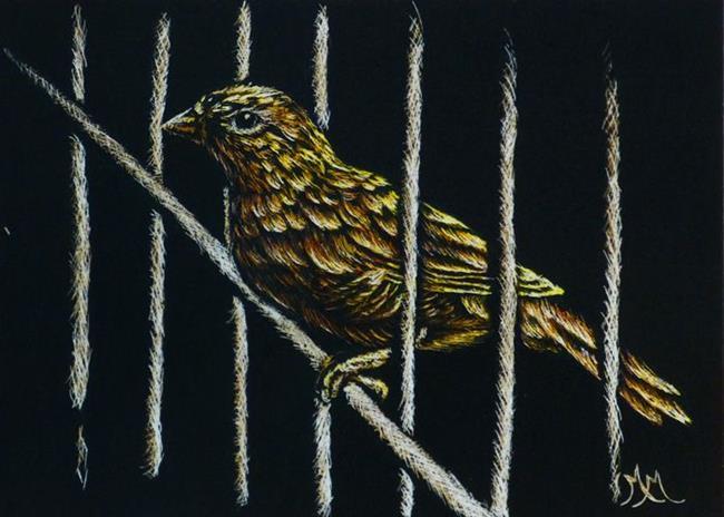 Art: Jail Break (SOLD) by Artist Monique Morin Matson