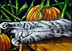Art: Fall Slumber  (SOLD) by Artist Monique Morin Matson