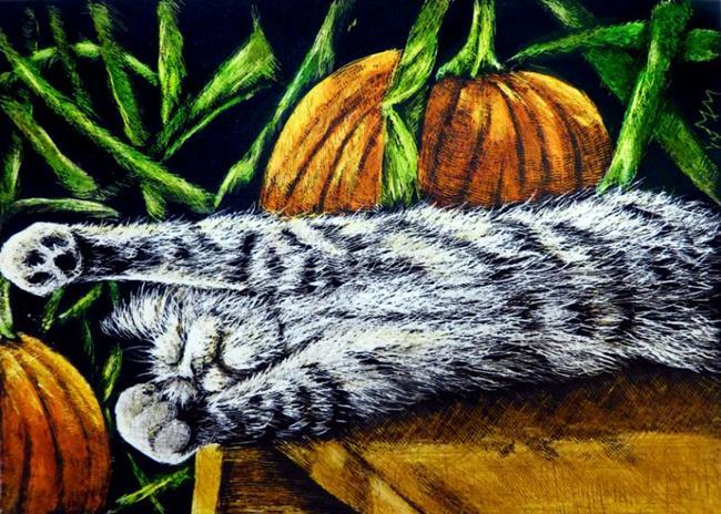 Art: Fall Slumber  (SOLD) by Artist Monique Morin Matson