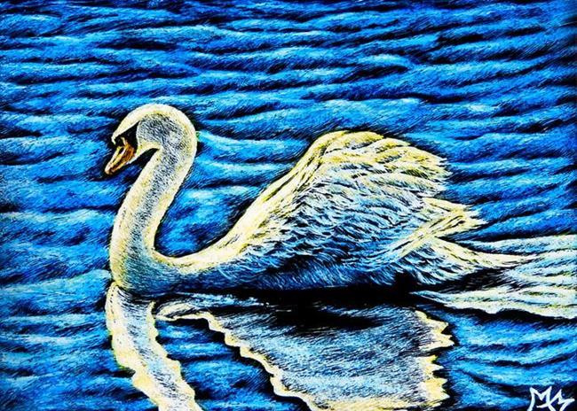 Art: Elegant Swan  (SOLD) by Artist Monique Morin Matson
