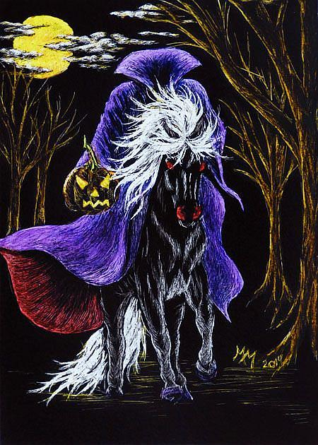 Art: Headless Horseman  (SOLD) by Artist Monique Morin Matson