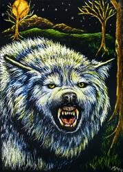 Art: Wolf  (SOLD) by Artist Monique Morin Matson