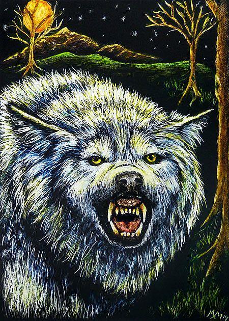Art: Wolf  (SOLD) by Artist Monique Morin Matson