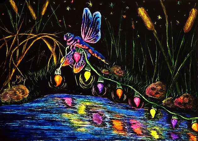 Art: Deck The Bog (SOLD) by Artist Monique Morin Matson
