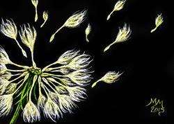 Art: Wishing A New Dream  (SOLD) by Artist Monique Morin Matson