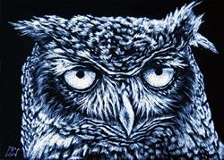 Art: Whoo R U  (SOLD) by Artist Monique Morin Matson