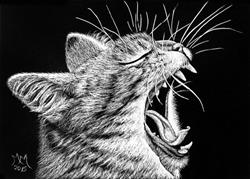 Art: Big Cat Roar  (SOLD) by Artist Monique Morin Matson