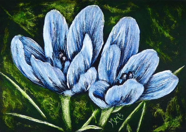 Art: Blue Crocus  (SOLD) by Artist Monique Morin Matson