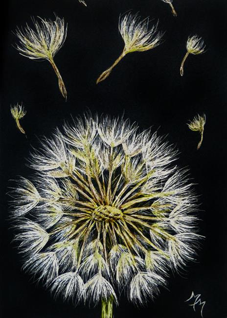 Art: Dandelion  (SOLD) by Artist Monique Morin Matson