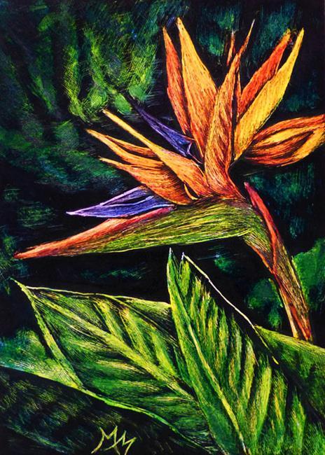 Art: Bird of Paradise  (SOLD) by Artist Monique Morin Matson