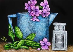 Art: Watering Pot  (SOLD) by Artist Monique Morin Matson