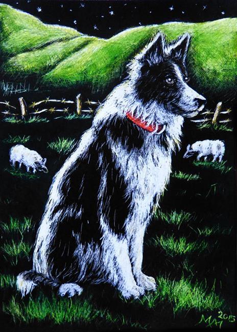 Art: Keeping Watch  (SOLD) by Artist Monique Morin Matson
