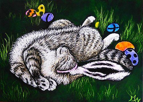 Art: Tuckered Out  (SOLD) by Artist Monique Morin Matson