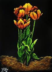 Art: Tulips  (SOLD) by Artist Monique Morin Matson