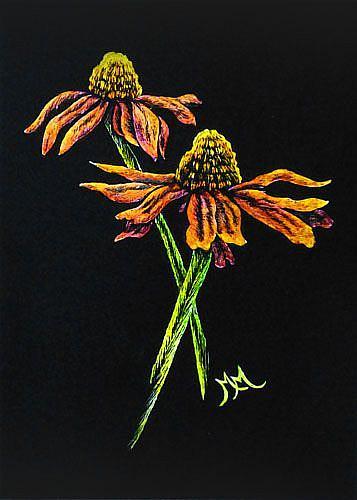 Art: Daisies II (SOLD) by Artist Monique Morin Matson