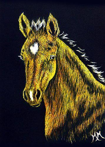 Art: Palomino Foal (SOLD) by Artist Monique Morin Matson