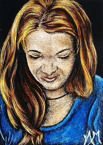 Art: Young Woman  (SOLD) by Artist Monique Morin Matson